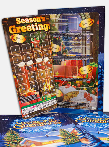 Texas Lottery® Season's Greetings Ticket (CNW Group/Pollard Banknote Limited)