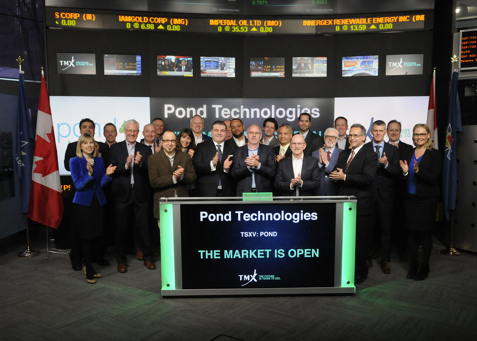 Pond Technologies Holdings Inc. Opens the Market (CNW Group/TMX Group Limited)