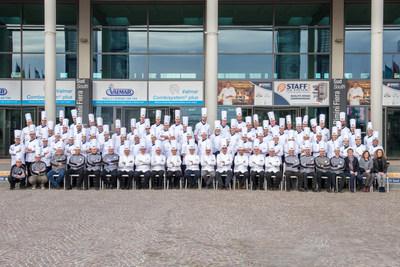 Competing teams at the Coppa del Mondo of Gelateria 2018 (Gelato World Cup) in Rimini, Italy