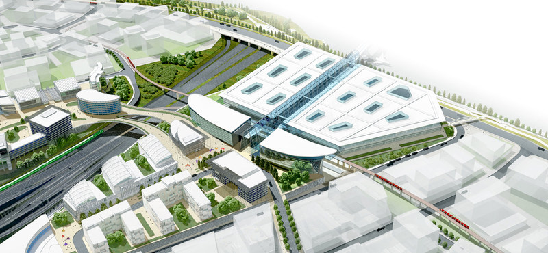 Concept rendering of proposed passenger processing facility and transit centre at Toronto Pearson International Airport (CNW Group/Greater Toronto Airports Authority)