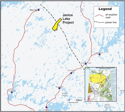Figure 1: Janice Lake Copper Project, Location Map (CNW Group/Transition Metals Corp.)