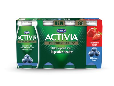 Activia Dailies are sold in packs of (8) and (24) 3.1 fluid ounce single-serving lowfat yogurt drinks.
