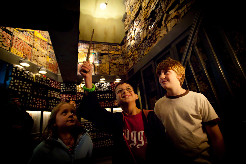 "Performing ""Real"" Magic with a wand from Ollivander's in The Wizarding World of Harry Potter at Universal Orlando Resort is just one of many incredible theme park experiences in Orlando."