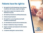 Caron Treatment Centers Sets the Standard in Addiction Treatment with Patient's Bill of Rights