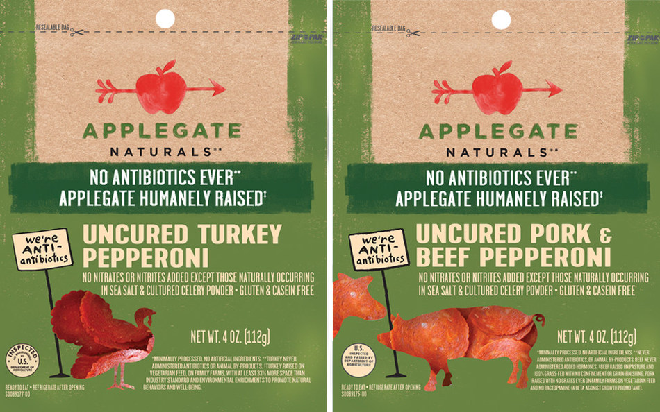 Applegate Naturals® Pork & Beef Pepperoni and Applegate Naturals® Turkey Pepperoni are now available in 4 oz. re-sealable packs at select retailers nationwide.