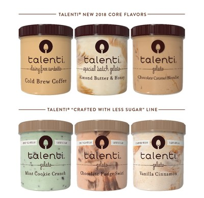 New Talenti 2018 Core Flavors and the Crafted with Less Sugar Line