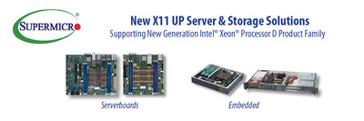 Supermicro expands Edge Computing and Network Appliance product portfolio with new Intel Xeon D-2100 SoC solutions