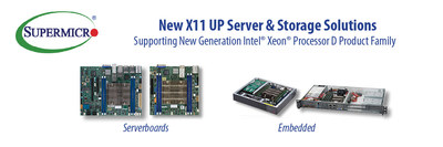 Supermicro expande seu portfólio de produtos de edge computing e network appliance com novas soluções Intel Xeon D-2100 SoC