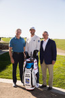 Dustin Johnson, PGA TOUR Golfer and newest RBC brand ambassador joined by Dave McKay, President and CEO, RBC and Jay Monahan, PGA TOUR Commissioner (CNW Group/RBC)