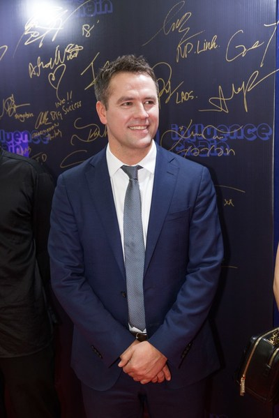 Michael Owen, the legend of the England national team and European football appeared on the Influence Chain grand opening red carpet.