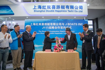 Cooperation Ceremony between Shanghai Double Happiness and J Boats at CIBS2017