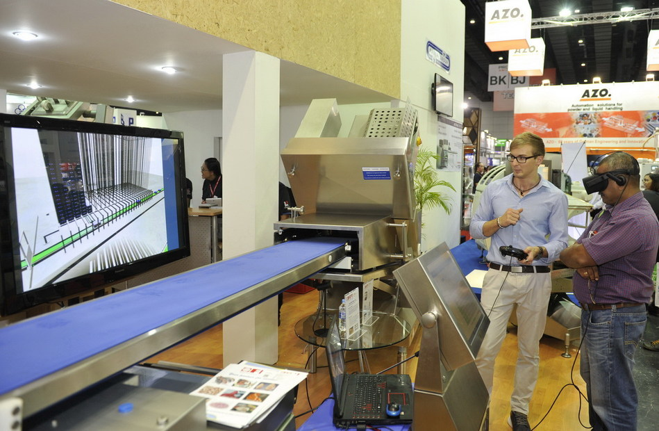 Innovative Conveyor Machine Display at ProPak Asia Thailand (PRNewsfoto/UBM BES)