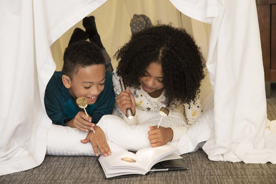 Families can create an in-room adventure with amenities like an architect-designed blanket fort, a lock box for their phones, desserts from Chef Duff and a complimentary bedtime story from The Nocturnals: Mysterious Abductions series.