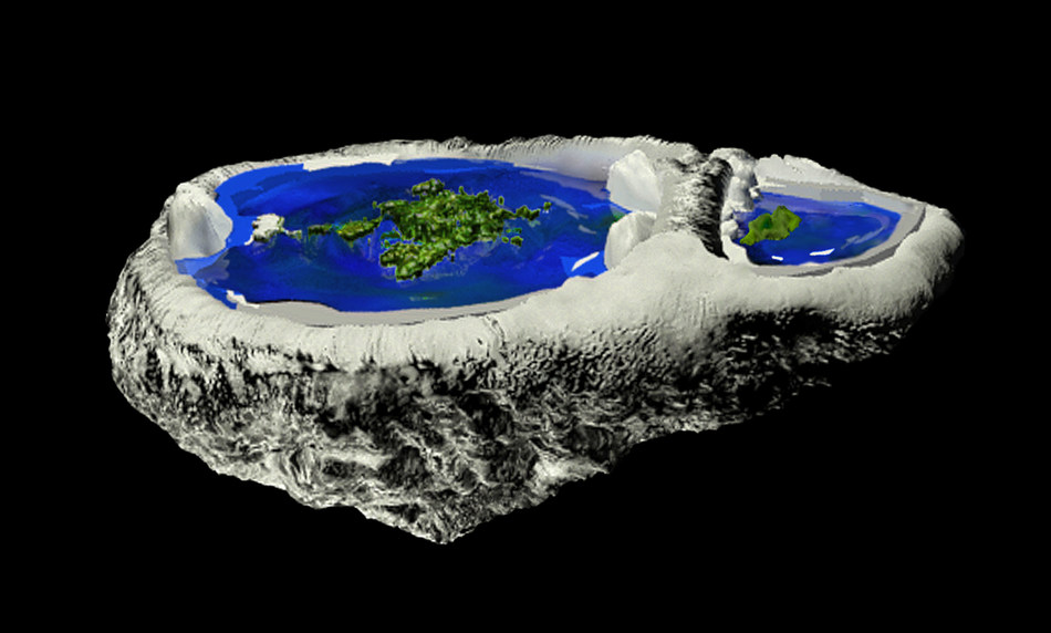 Experiments indicate that the Earth is convex in land areas and flat in watery areas
