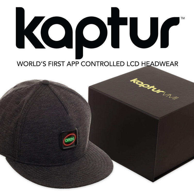 Kaptur is the world's first app controlled LCD headwear
