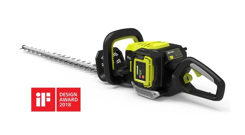 The G-FORCE XR120 Lithium-ion Hedge Trimmer Was Awarded by IF DESIGN AWARDS 2018