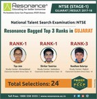 Resonance bagged top 3 Ranks in NTSE Stage-1, Gujarat (PRNewsfoto/Resonance Eduventures Limted)