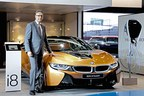 Mr. Vikram Pawah with the all-new BMW i8 Roadster (PRNewsfoto/BMW India Private Limited)