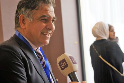 Mr. Ayman Ershaid, CEO of Moment Innovation, the organizer of the Mobile Innovation Summit 2018 speaking to Media. (PRNewsfoto/CONTENT PLUS)