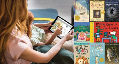 hoopla digital's immersive new eReader technology allows graphics to appear just as it would in a physical book. Several titles from Candlewick Press will be available on the new eReader.