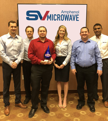 Pictured from Left to Right: Andrew Dinsdale – Director of Marketing, Tom Lockard – Director of Sales, Paul Hejlik – Product Mgr., Kelley Nall – Distribution & Marketing Mgr., Matt Nemec – Director, Interconnect, Subi Katragadda – General Manager