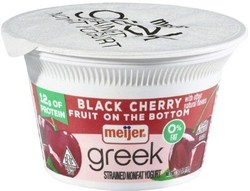 Meijer Greek Yogurt 0% Black Cherry 5.3 oz.