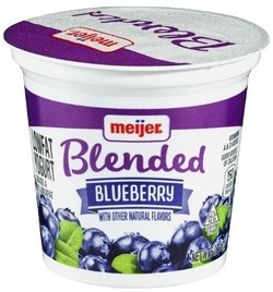 Meijer Yogurt Low-fat Blueberry 6 oz.