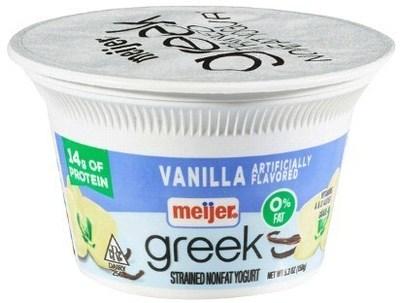 Meijer Greek Yogurt 0% Vanilla 5.3 oz.