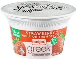 Meijer Greek Yogurt 0% Strawberry 5.3 oz.
