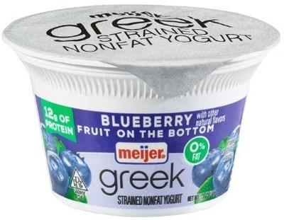 Meijer Greek Yogurt 0% Blueberry 5.3 oz.