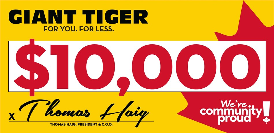 Giant Tiger is community proud! (CNW Group/Giant Tiger Stores Limited)