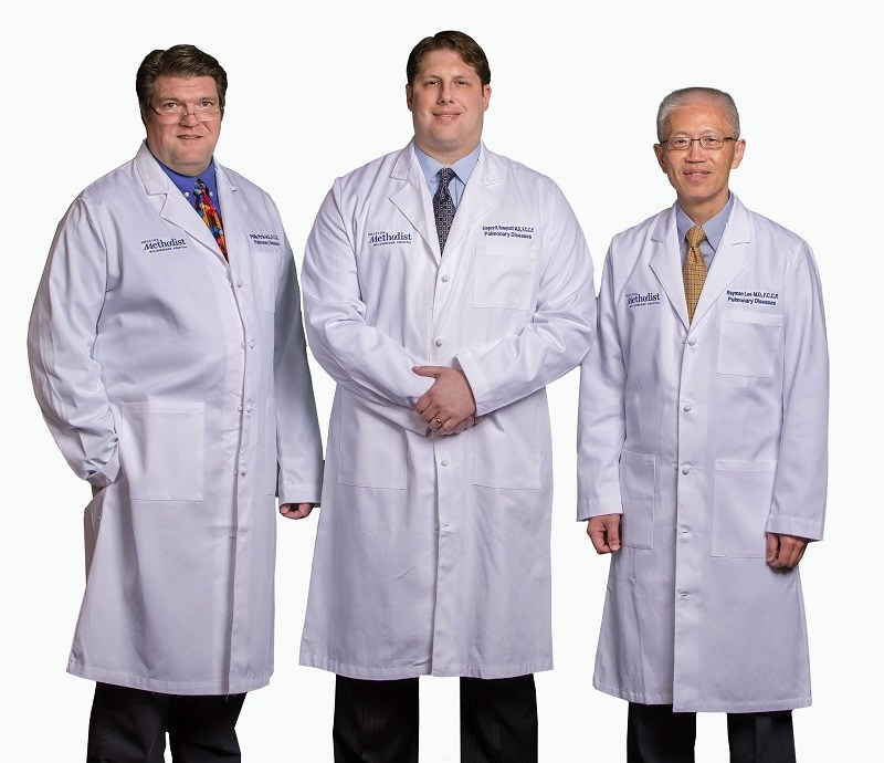 Houston Methodist Willowbrook Hospital announced today that board certified pulmonary, critical care, and sleep medicine specialists (pictured left to right) Drs. Philip Pirtle, Gregory Honeycutt and Rayman Lee are joining the Houston Methodist Specialty Physician Group.