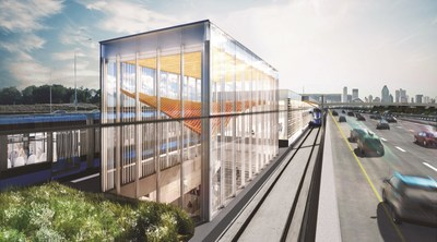 NouvLR General Partnership Selected as the preferred consortium for the Infrastructure Engineering, Procurement and Construction of the Réseau express métropolitain (CNW Group/SNC-Lavalin)