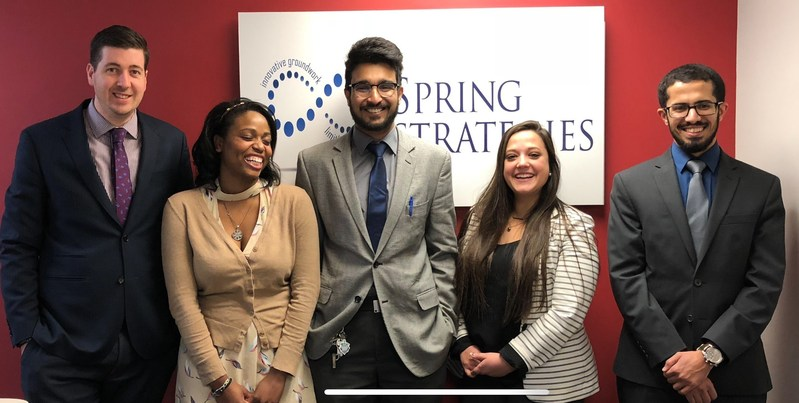 Staff from Spring Strategies, a Maryland-based sales and marketing firm, held a winter clothing drive to benefit the homeless in the greater Washington, DC area.