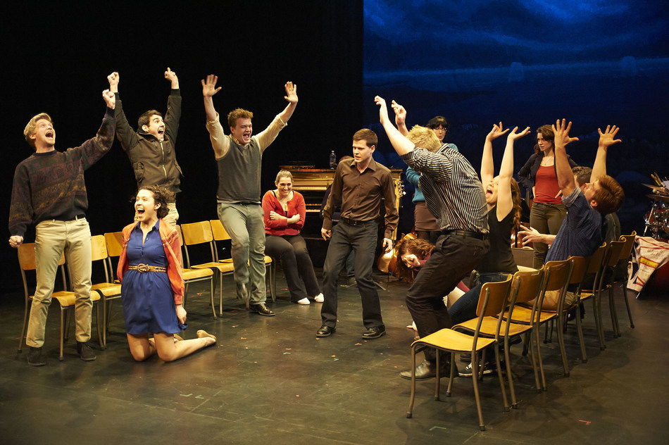 Sheridan Music Theatre Performance students in the 2013 production of Come From Away at Sheridan College.  Photo Credit: John Jones (CNW Group/Sheridan College)