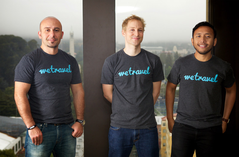 Started by three immigrants from Azerbaijan, Indonesia and Switzerland at UC Berkeley, WeTravel came out of UC Berkeley's SkyDeck accelerator. Co-founders (from the left): Garib Mehdiyev, Johannes Koeppel, Zaky Prabowo.