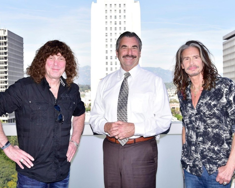 Left to Right: Stuart Smith, Heaven & Earth; Chief Charlie Beck, Los Angeles Police Chief; Steven Tyler, The Loving Mary Band/Aerosmith