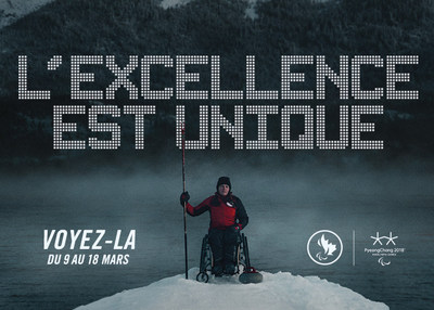 L'excellence est unique (Groupe CNW/Canadian Paralympic Committee (Sponsorships))