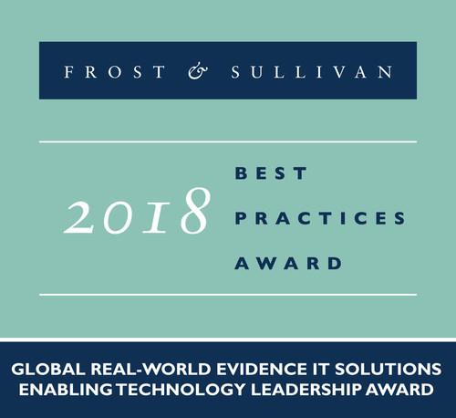 2018 Global Real-world Evidence IT Solutions Enabling Technology Leadership Award (PRNewsfoto/Frost & Sullivan)