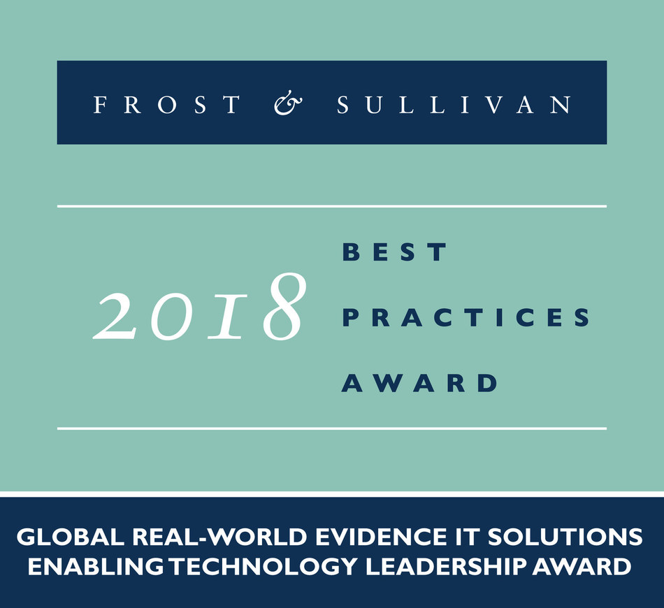 2018 Global Real-world Evidence IT Solutions Enabling Technology Leadership Award (PRNewsfoto/Frost & Sullivan)