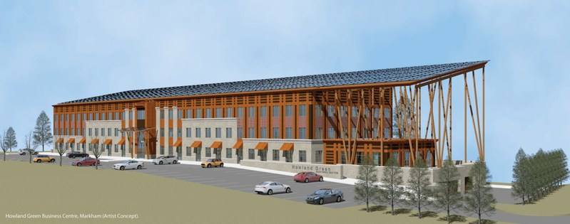 Howland Green Business Centre, Markham (Artist Concept). (CNW Group/Howland Green Homes Ltd.)