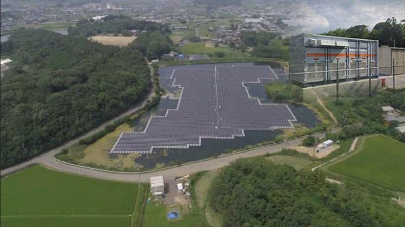 Mitakabe pond Solar Power Station