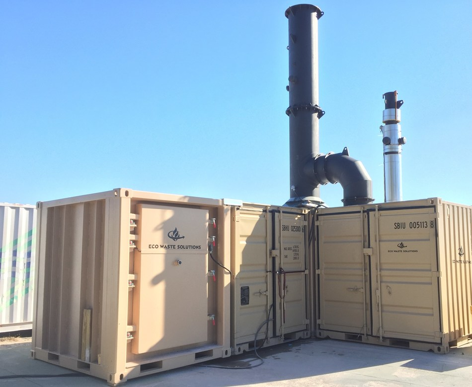 Eco Waste Solutions: Portable Energy-From-Waste (CNW Group/Eco Waste Solutions)