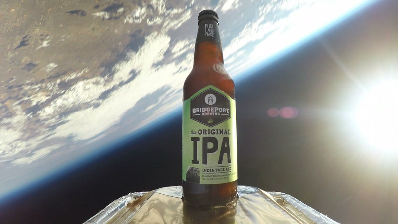 Bridgeport launches the first craft beer into space to celebrate newly renovated Portland brewpub opening