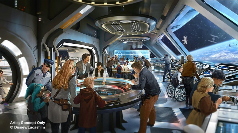 The highly anticipated Star Wars-themed hotel coming to Walt Disney World Resort in Florida will take guests on a journey through space with out-of-this-world theming in a totally immersive experience. Each guest room window gives guests an intergalactic view into space.  Rich stories inspired by the epic film saga will unfold in this groundbreaking new hotel experience that will seamlessly connect to Star Wars: Galaxy's Edge at Disney's Hollywood Studios.