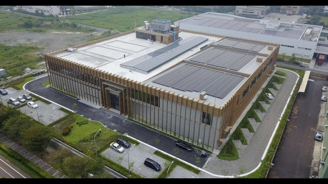 TCI's S11 building, the world's first eco-factory devoted to making facial masks, has been designed to co-exist with the natural.