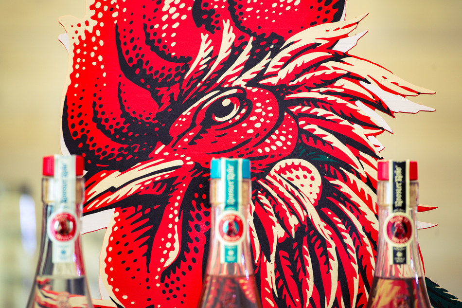 Rooster Rojo, publicity photo (PRNewsfoto/Amber Beverage Group)