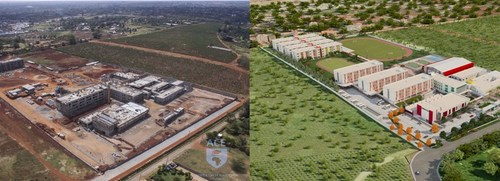 """Africa Crest Education (ACE)'s first flagship school, the """"SABIS International School – Runda"""" located in Nairobi, Kenya currently under construction and now accepting applications for its opening in September 2018 (PRNewsfoto/Investbridge)"""