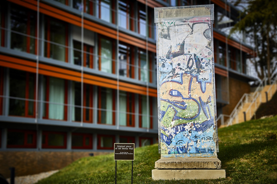 Makrolon® AR polycarbonate sheet from Covestro LLC is used to protect and preserve a piece of the Berlin Wall at the German Embassy in Washington, D.C.