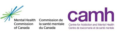 Logos of the Mental Health Commission of Canada and the Centre for Addiction and Mental Health (CNW Group/Mental Health Commission of Canada)